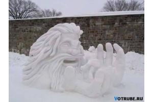 Снежные фигуры фото 2
