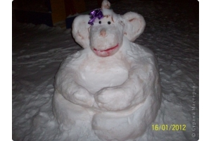 Снежные фигуры фото 4