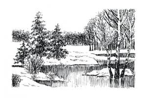 Пейзаж рисунки 3