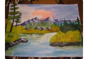 Пейзаж рисунки 6