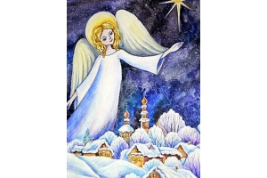 Рисунки рождественские 3