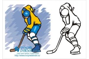 Хоккей рисунки 3