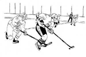 Хоккей рисунки 8