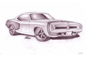 Рисунки автомобилей карандашом