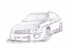 Рисунки автомобилей карандашом 3