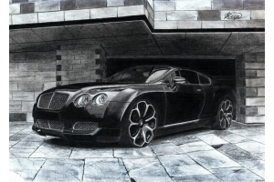Рисунки автомобилей карандашом 4