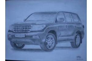 Рисунки автомобилей карандашом 5