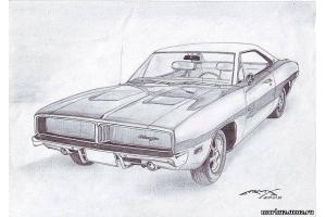 Рисунки автомобилей карандашом 8
