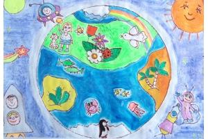 Детские рисунки на тему хэллоуин 7