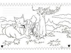 Лисица - раскраски для детей 2