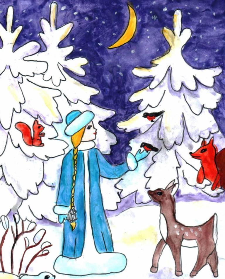 Надписями, зимние сказки картинки легкие