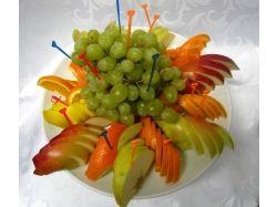 Как красиво украсить фрукты фото