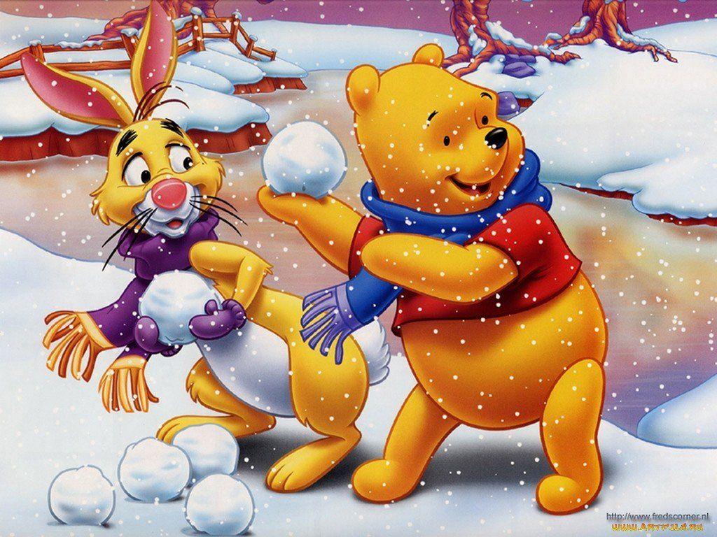 Картинки зима мультик