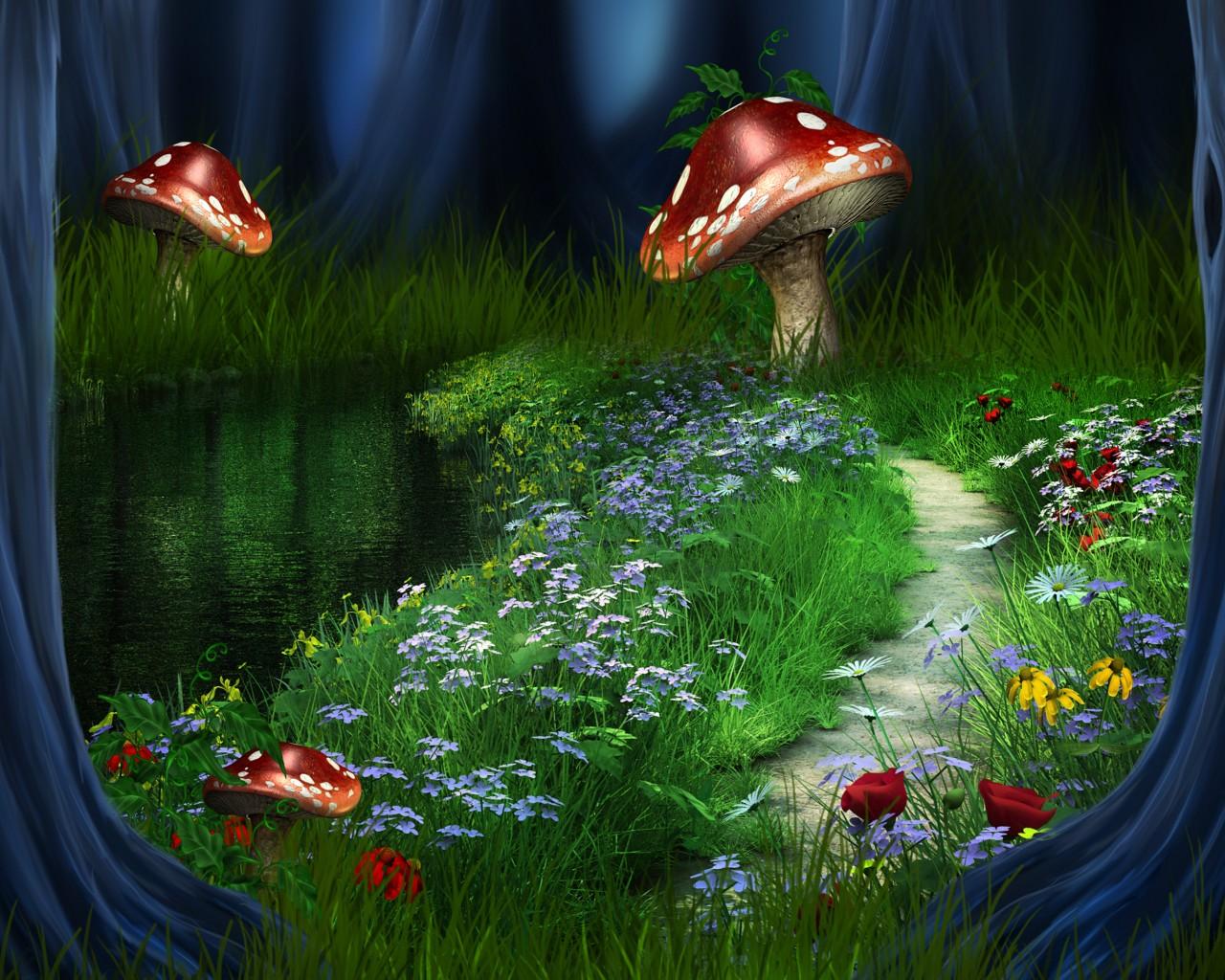 Смотреть картинки сказочный лес