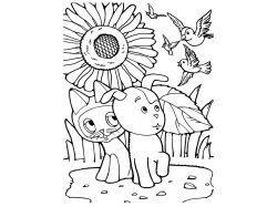 Поссум обыкновенный - раскраски для детей 2