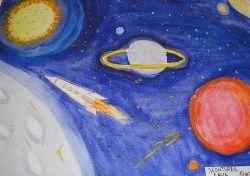 Кофта с рисунком космоса 6