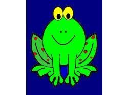 Лягушка - раскраски для детей 1