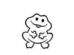 Лягушка - раскраски для детей 2