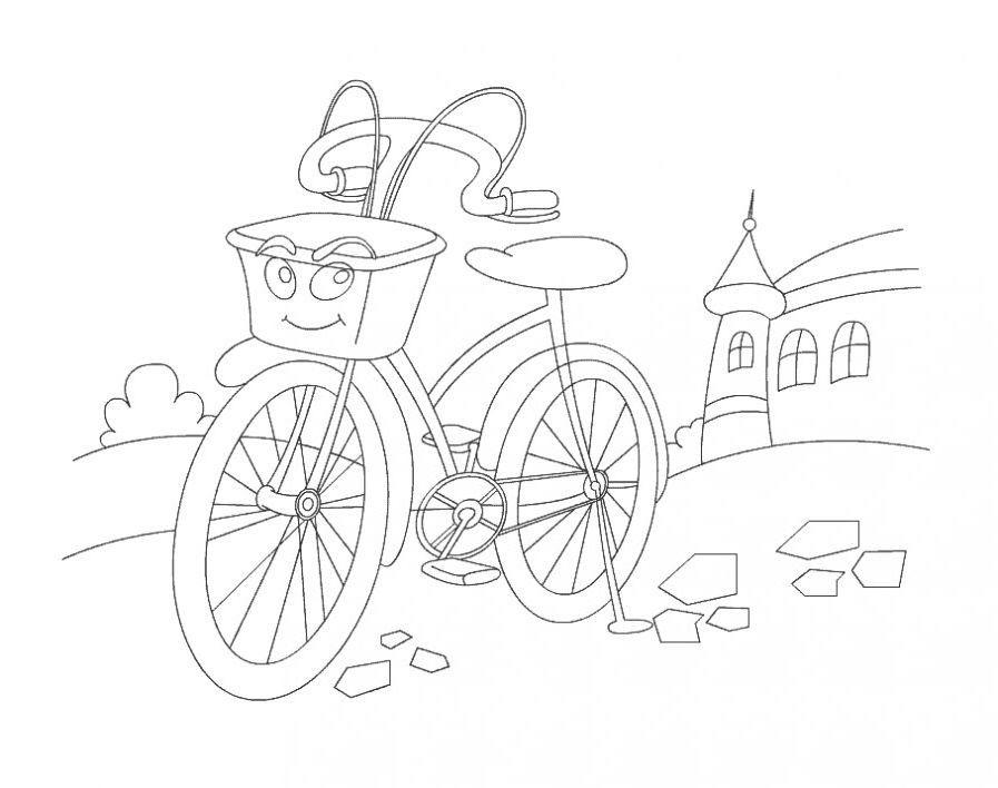 Велосипед - раскраски для детей » Скачать лучшие картинки ...
