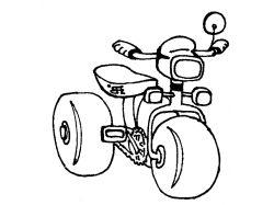 Велосипед - раскраски для детей