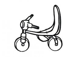 Велосипед - раскраски для детей 4