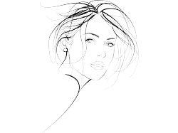 Арт рисунки девушек карандашом