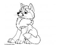 Волк - раскраски для детей 3