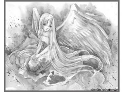 Красивые картинки ангелов карандашом
