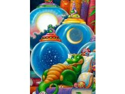 Новогодние прикольные картинки с драконом 4