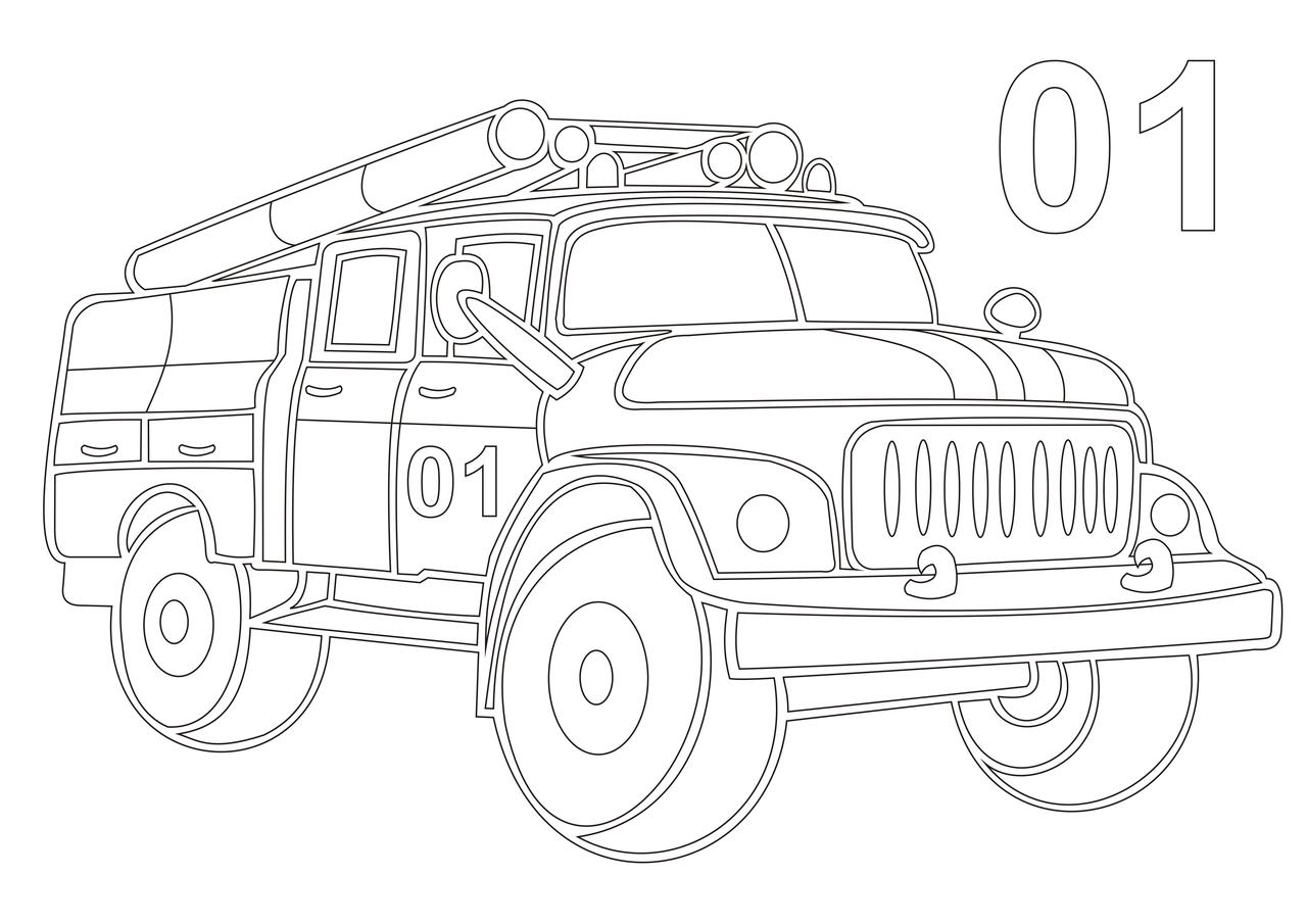 картинки рисунков пожарных машин нежные