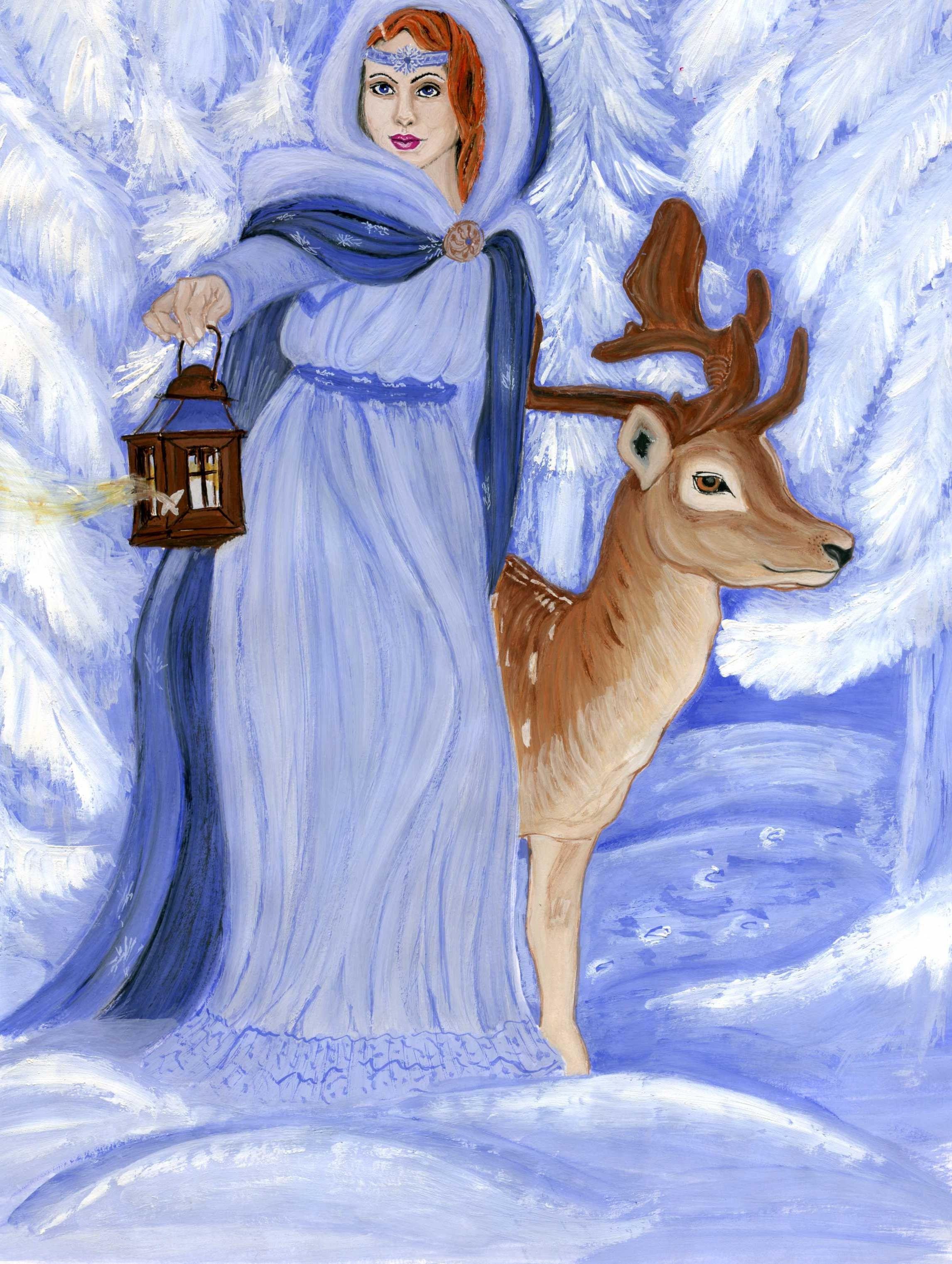 Зимние сказки картинки легкие