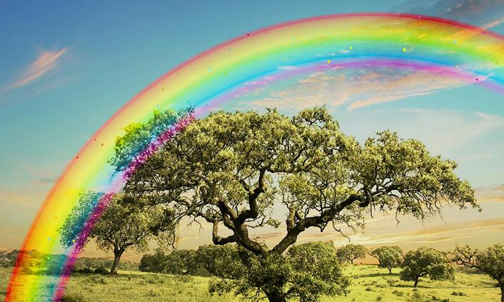 Мая для, радуга анимация картинки красивые