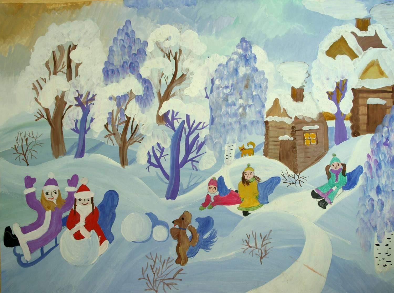 Картинки на тему зима для детей зимние забавы
