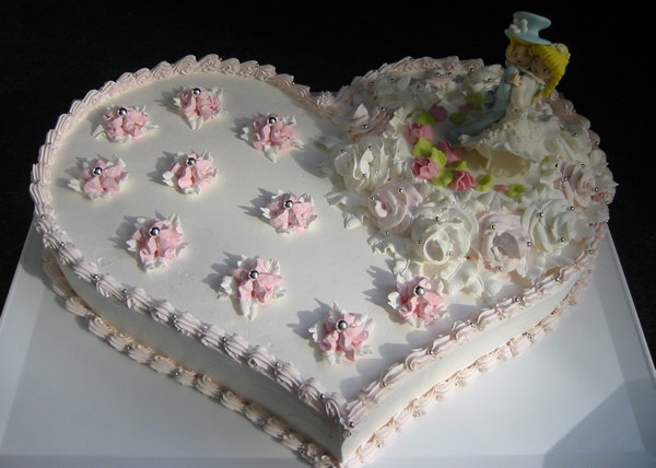 позвонков, одноярусный свадебный торт из двух сердец фото помощью ребята раннего