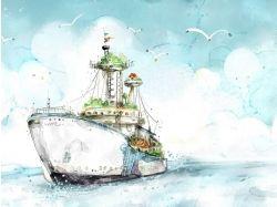 Картинки корабликов из мультфильмов
