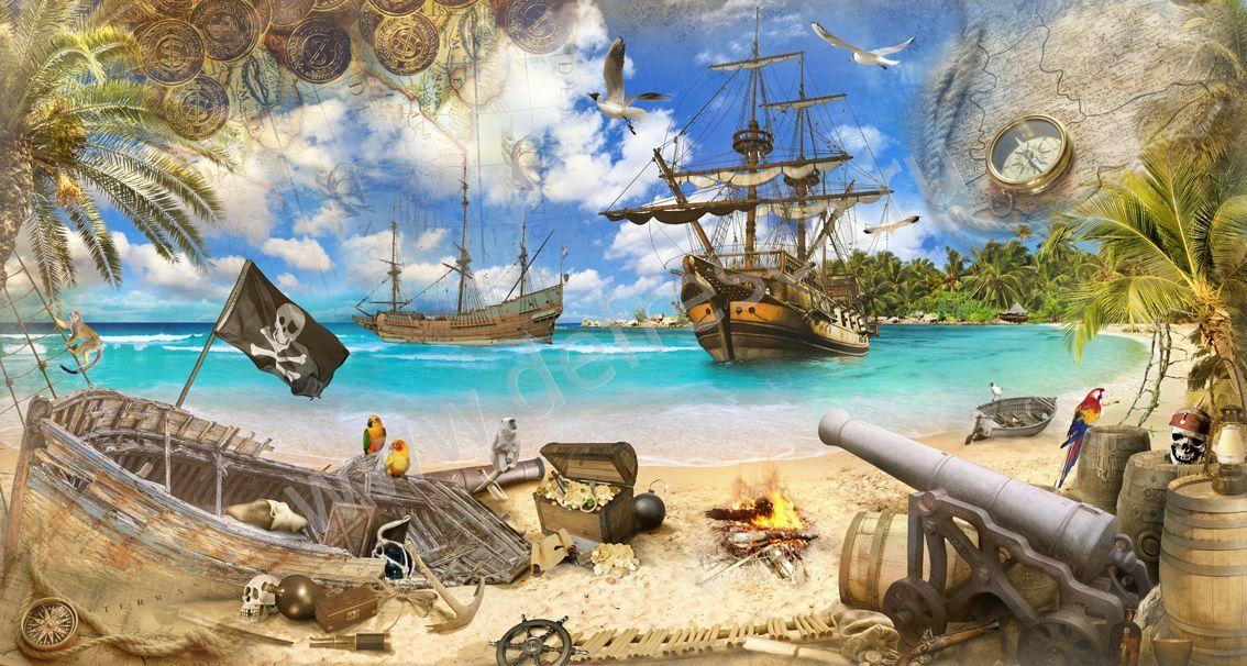Пиратская тема картинки, открытки марта