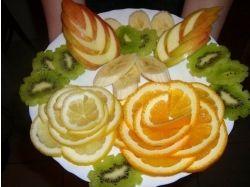 Как красиво расположить фрукты фото