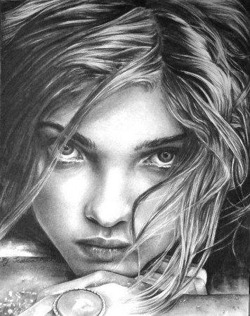 Нарисованные картинки на аву для девушек брюнеток 2