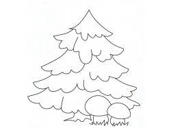 Раскраска елочка