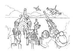 Военные раскраски