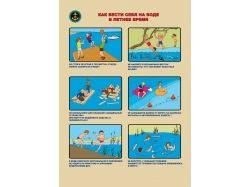 Презентация правила поведения на воде для детей в картинках