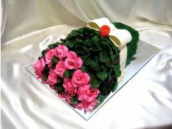 Торт букет из мастики