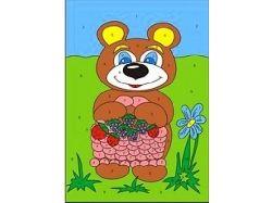 Раскраска медвежонок