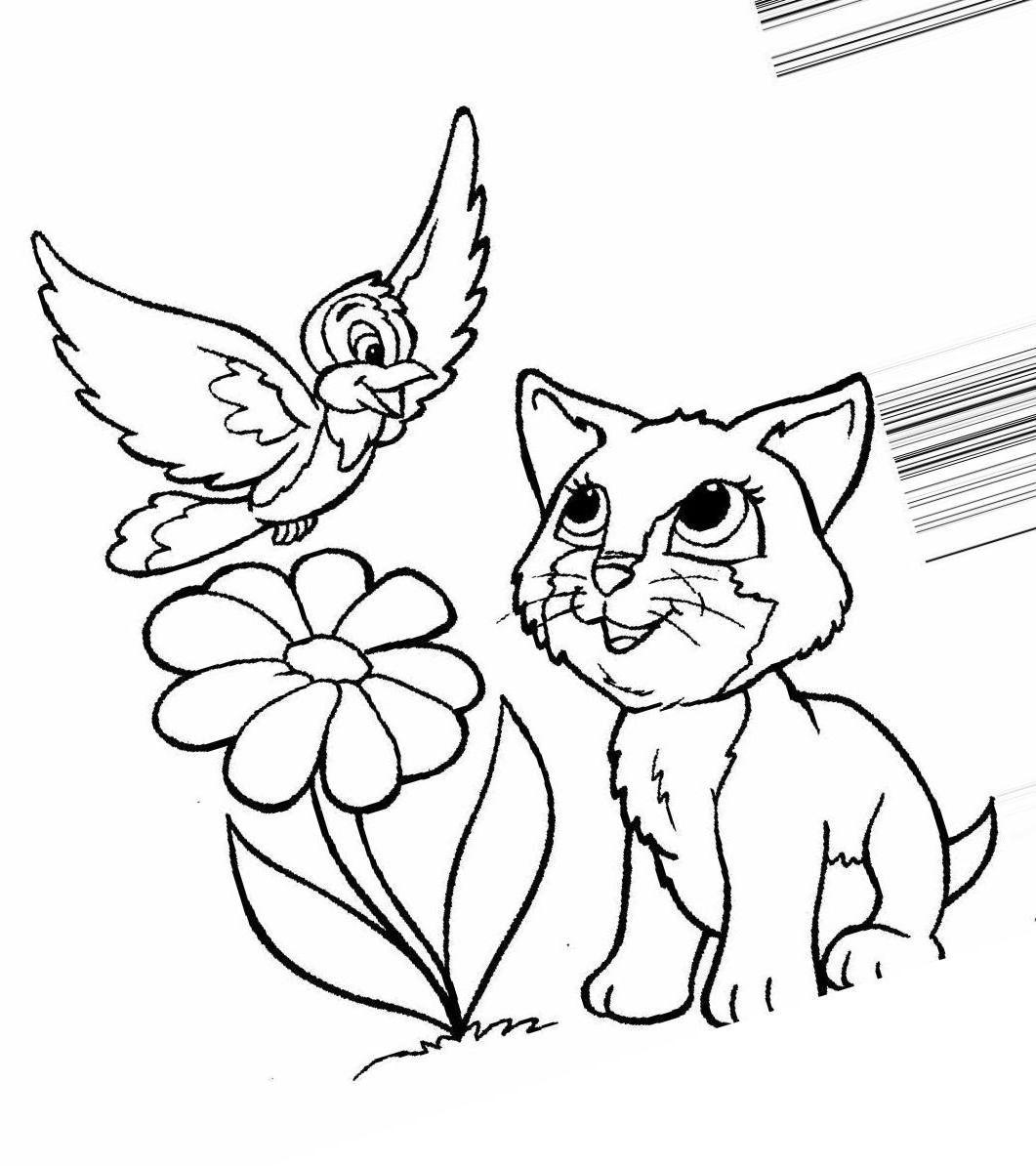 Раскраски котята распечатать » Скачать лучшие картинки ...