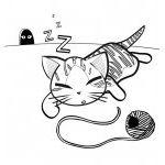 Раскраска котик
