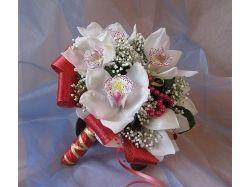 Белые свадебные букеты фото