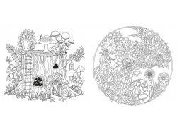Secret garden раскраска