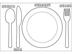 Раскраска тарелка