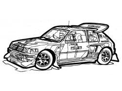 Раскраски гоночные машины