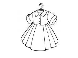Платье раскраска